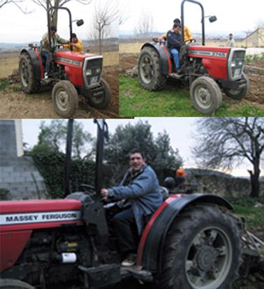 Tractor en bones mans