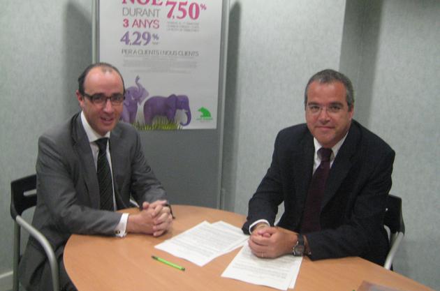 Signatura del conveni amb Caja Madrid