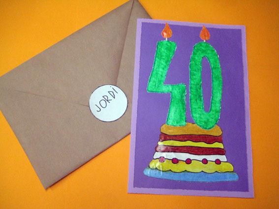 La postal dels 40 anys del Jordi