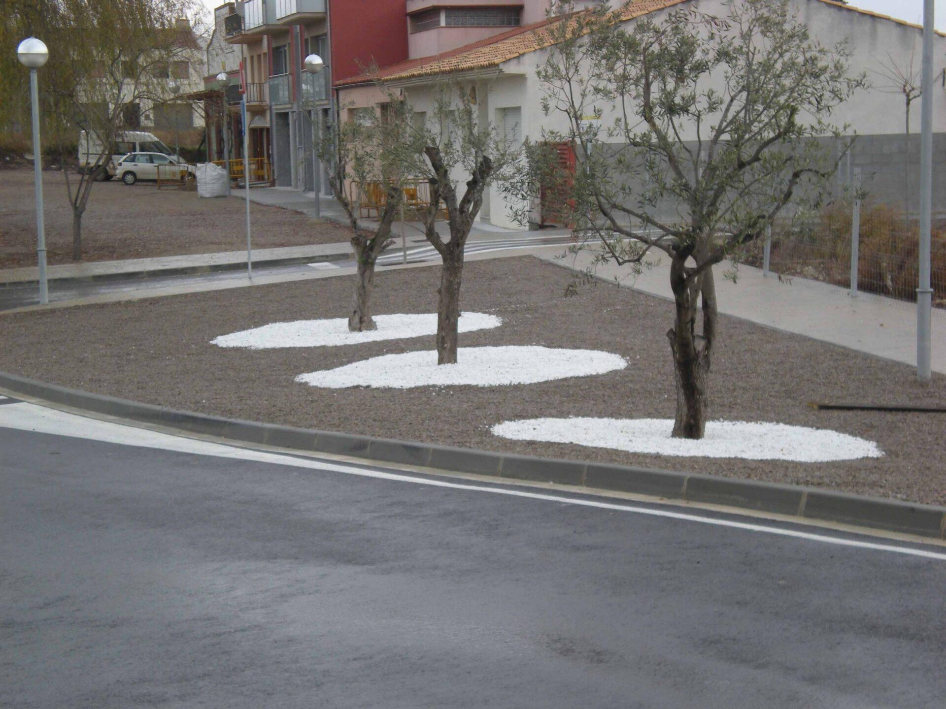 Obra nova de jardineria a Les Cabanyes