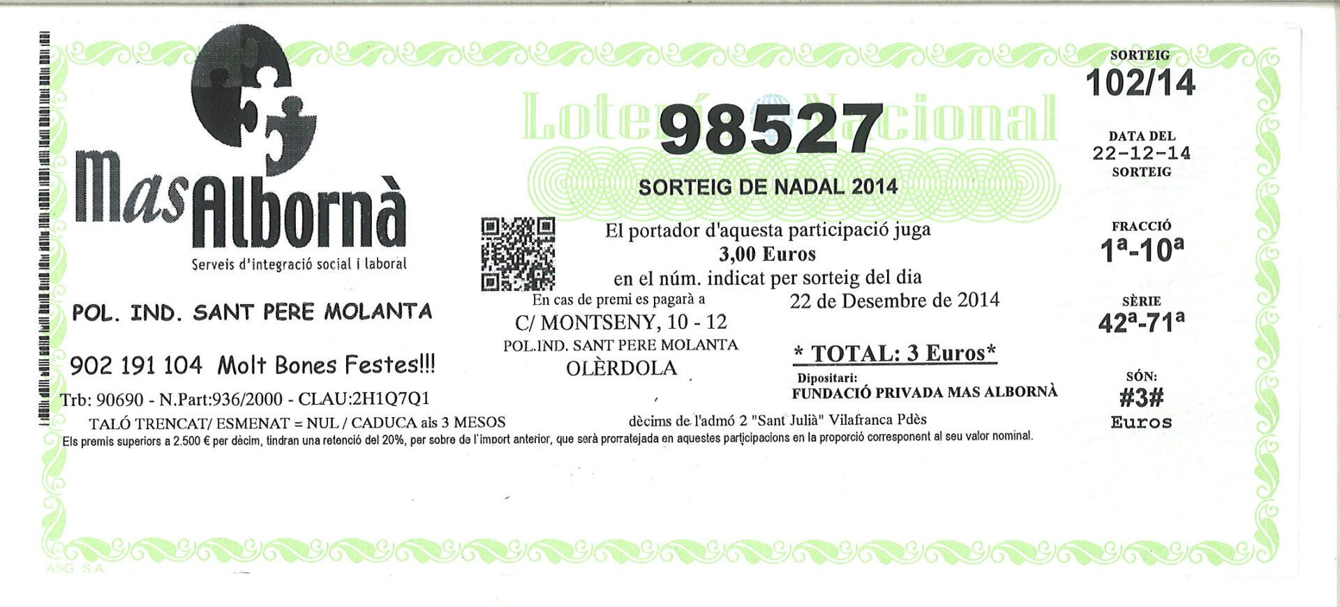 Loteria Mas Albornà