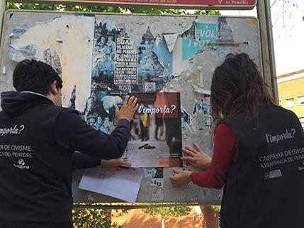 Campanya de Civisme Vilafranca - Pòster caques
