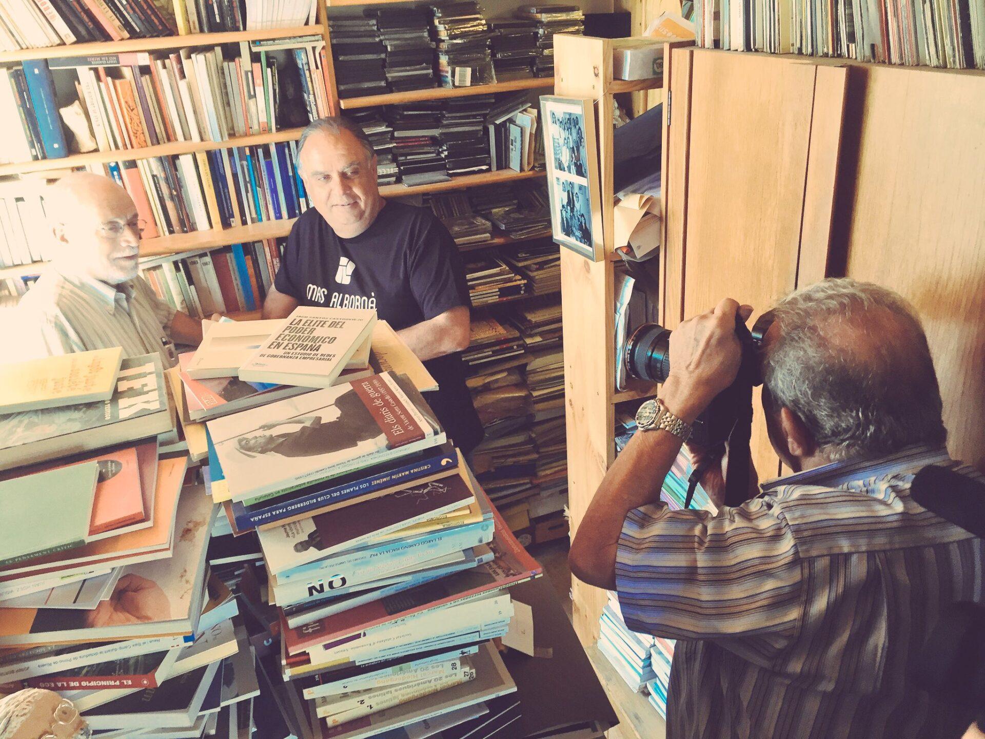 L'economista Arcadi Oliveres, al calendari de Mas Albornà