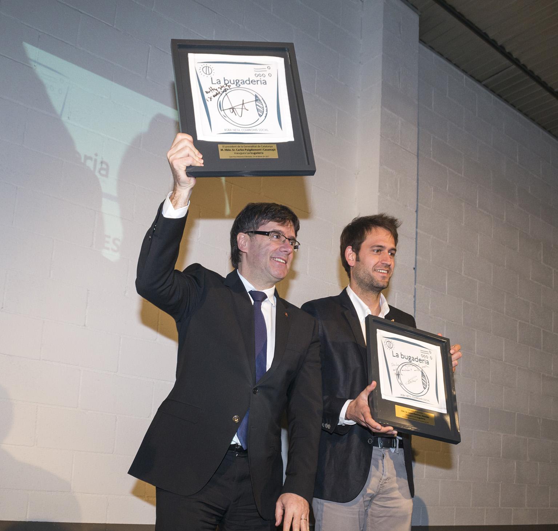 El president Puigdemont inaugura oficialment La bugaderia