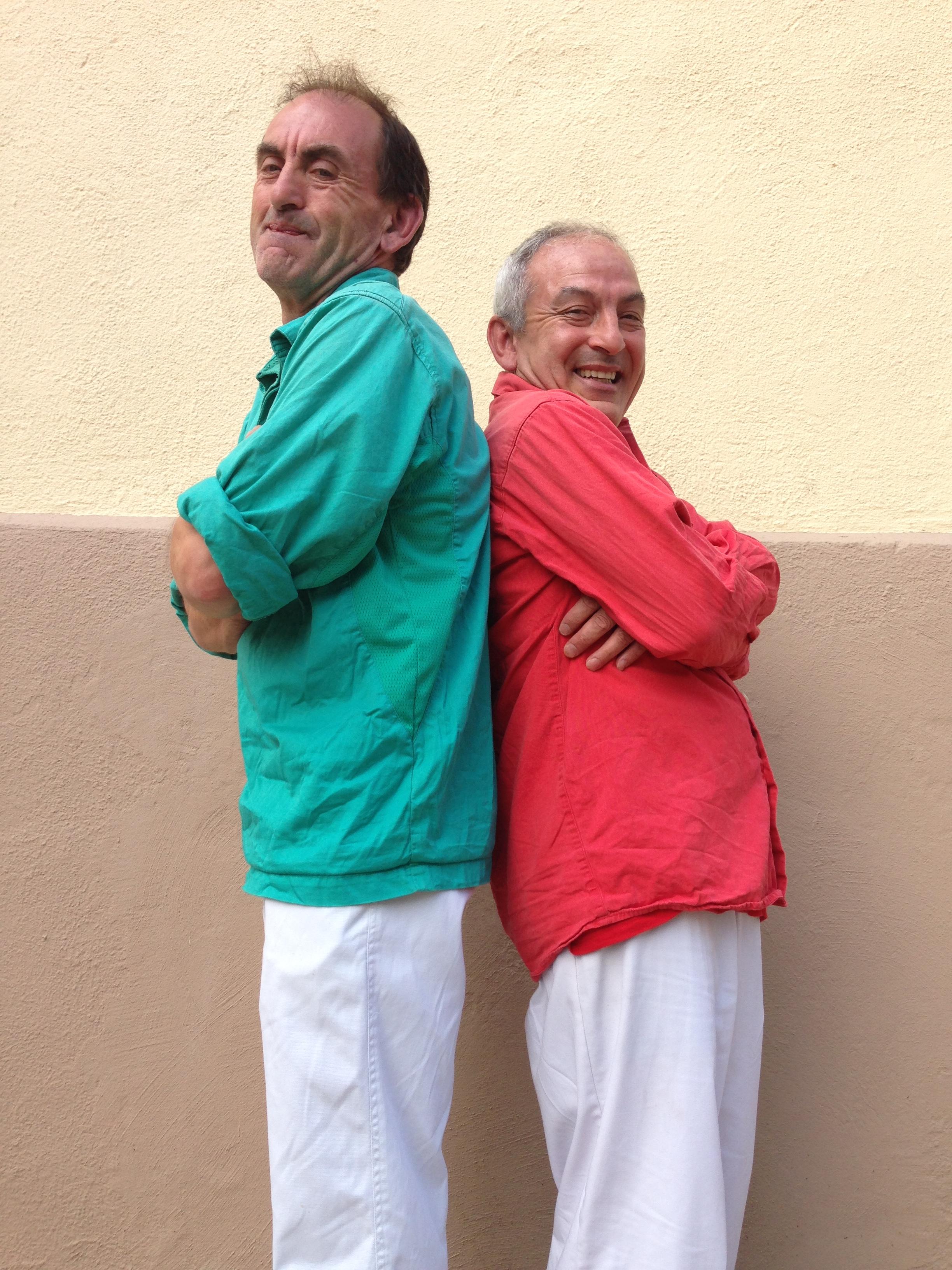 Juan i Serafin germans castellers