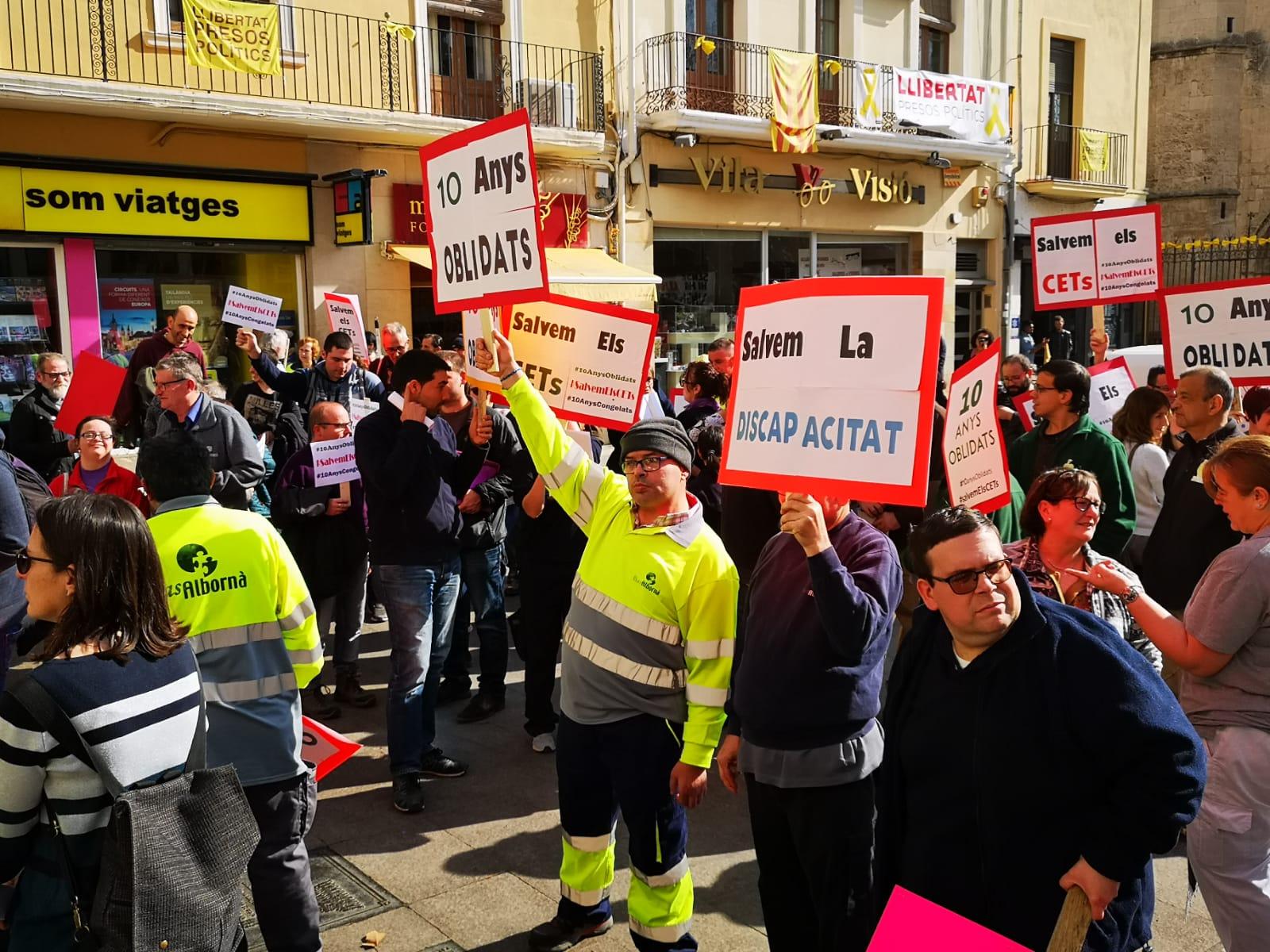 Mas Albornà es manifesta a Barcelona