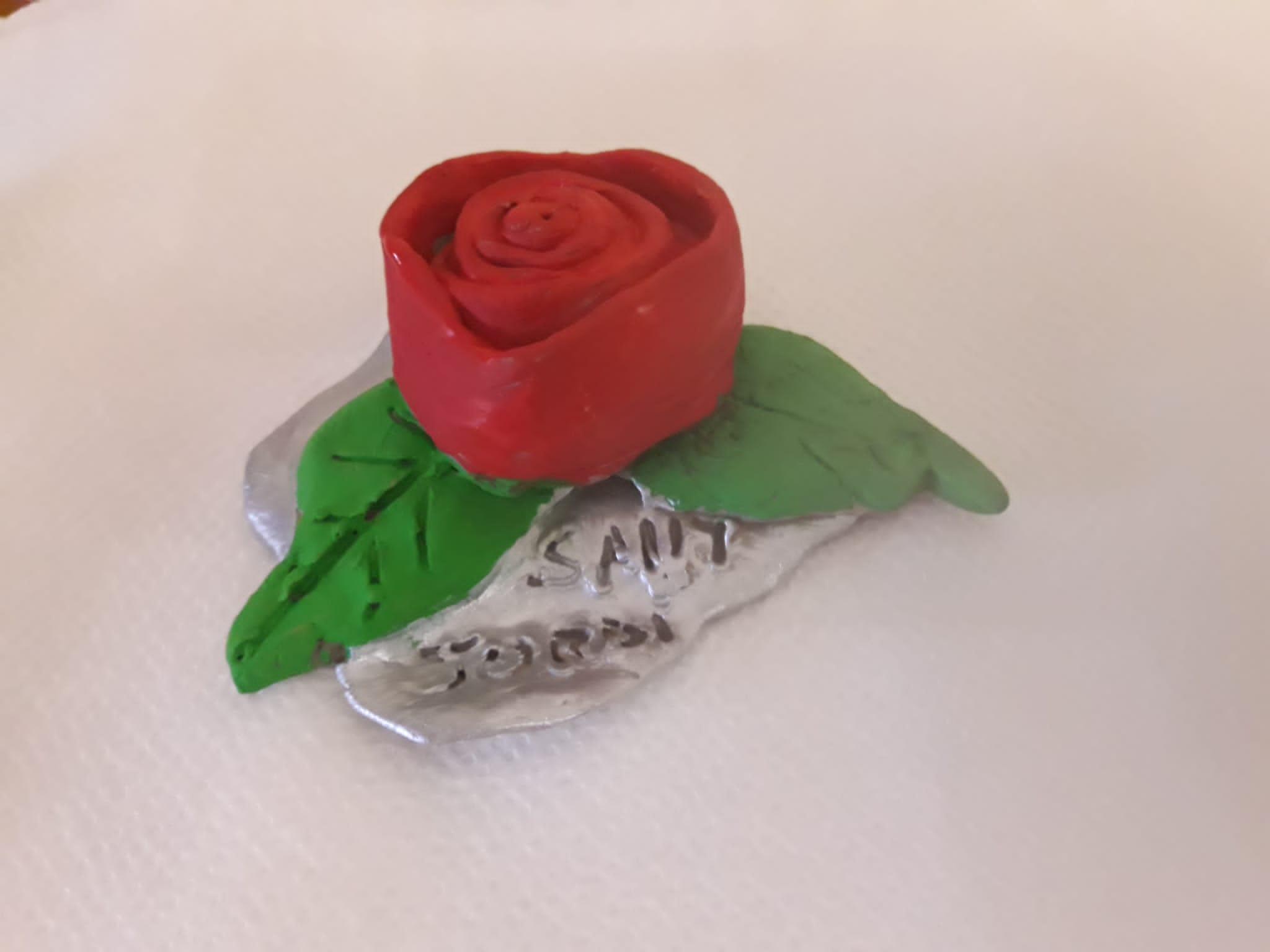 Preparant roses per Sant Jordi