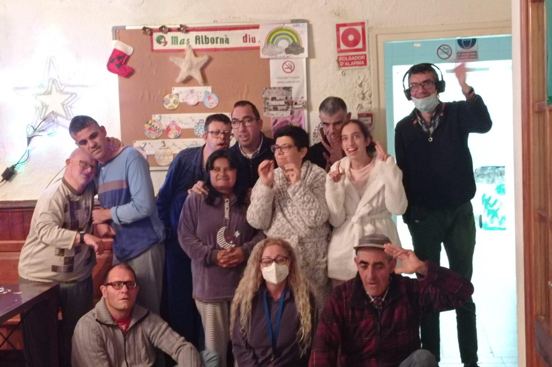 Decoració nadalenca a Mas Albornà