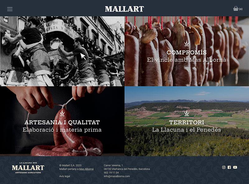 La nova web de Mallart ja és online