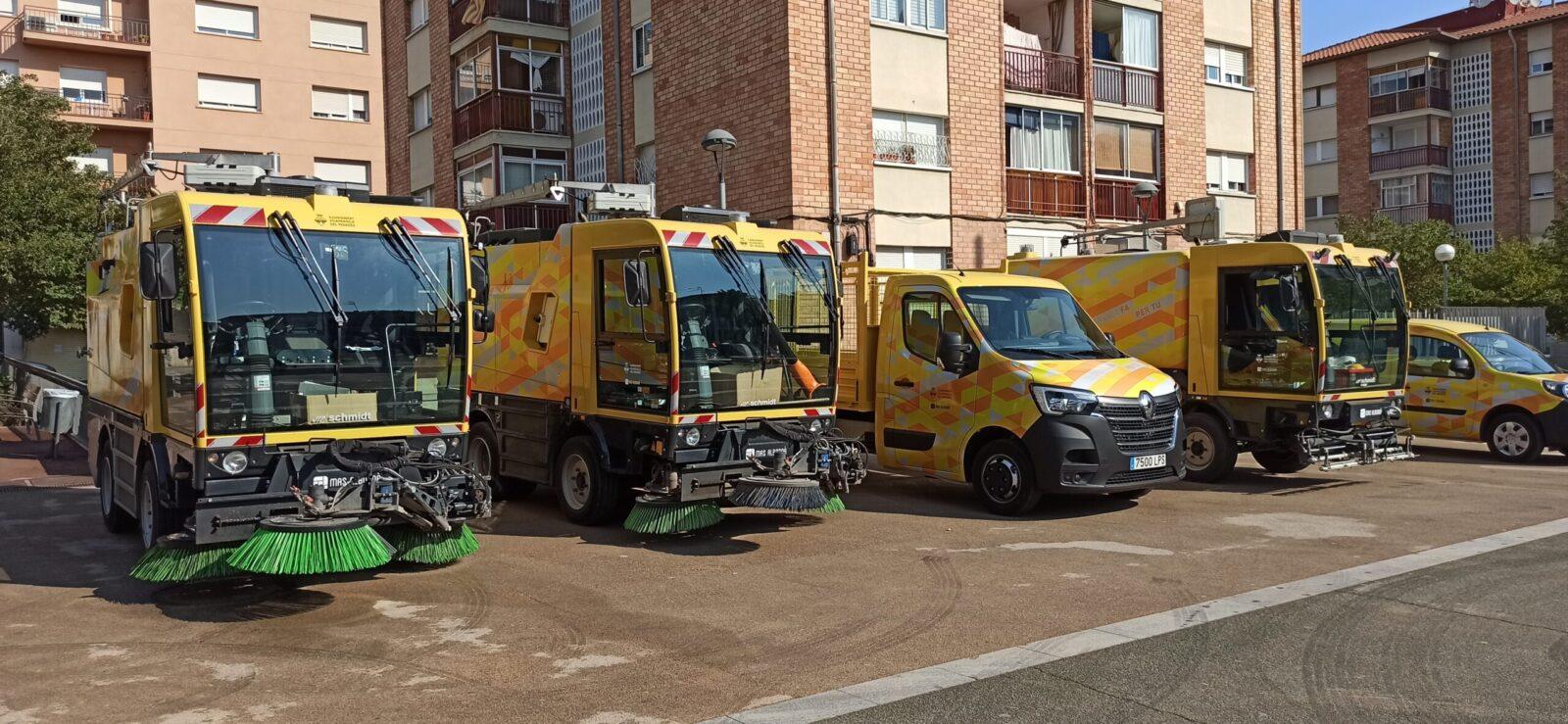 El servei de neteja viària de Mas Albornà a Vilafranca renova la flota de vehicles amb maquinària d'última generació