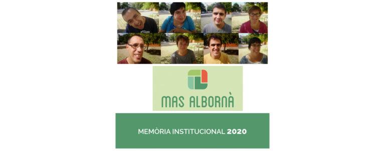 Com cada any, Mas Albornà ha presentat la seva memòria institucional de l'exercici 2020.