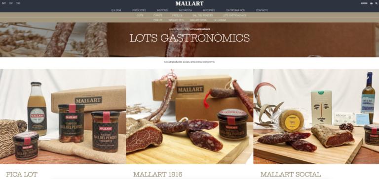 Des de Mallart Artesans Xarcuters, la marca d'embotits de Mas Albornà, ja estem preparant la campanya de lots de Nadal.