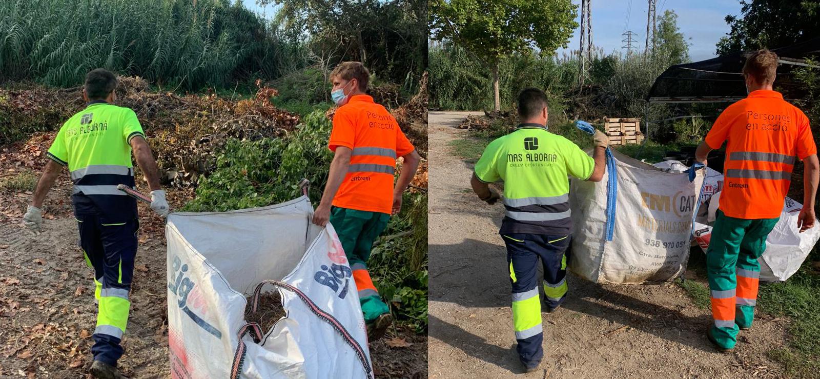 Mas Albornà col·labora amb Entrem en la neteja i conservació de zones verdes a Olèrdola